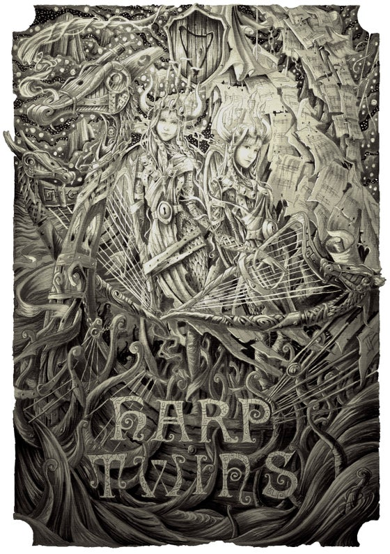 Image of Harp Twins VIKINGS ARTWORK Poster