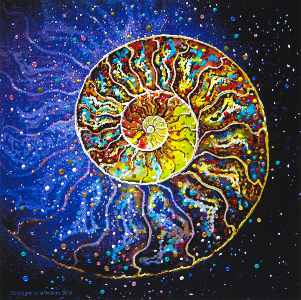 Image of The Sacred Nautilus Energy Painting - Giclee Print