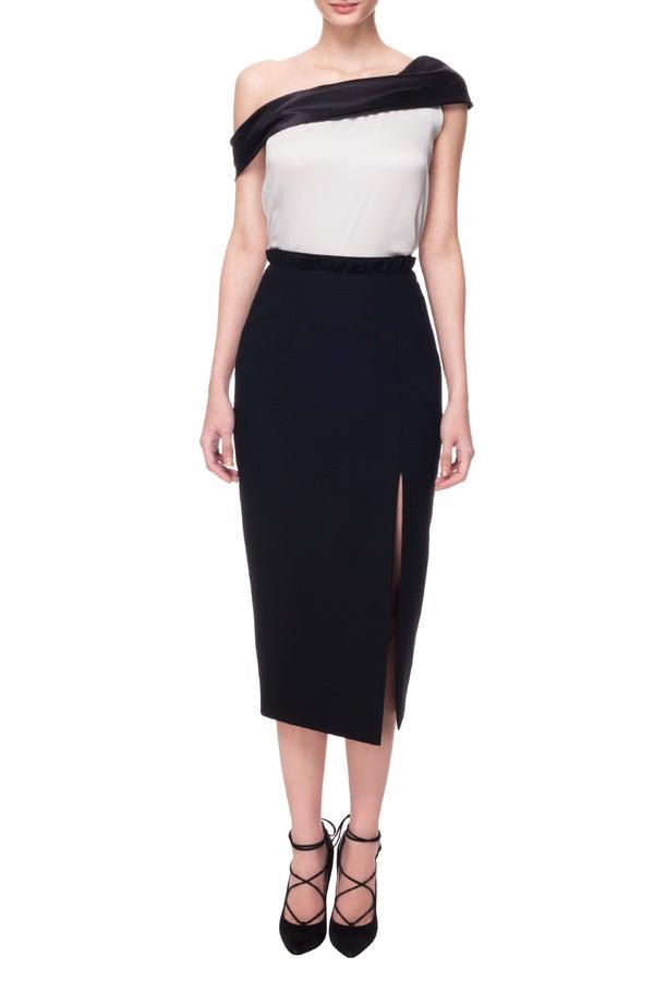 Skye Skirt Black $580.00 - Melissa Bui