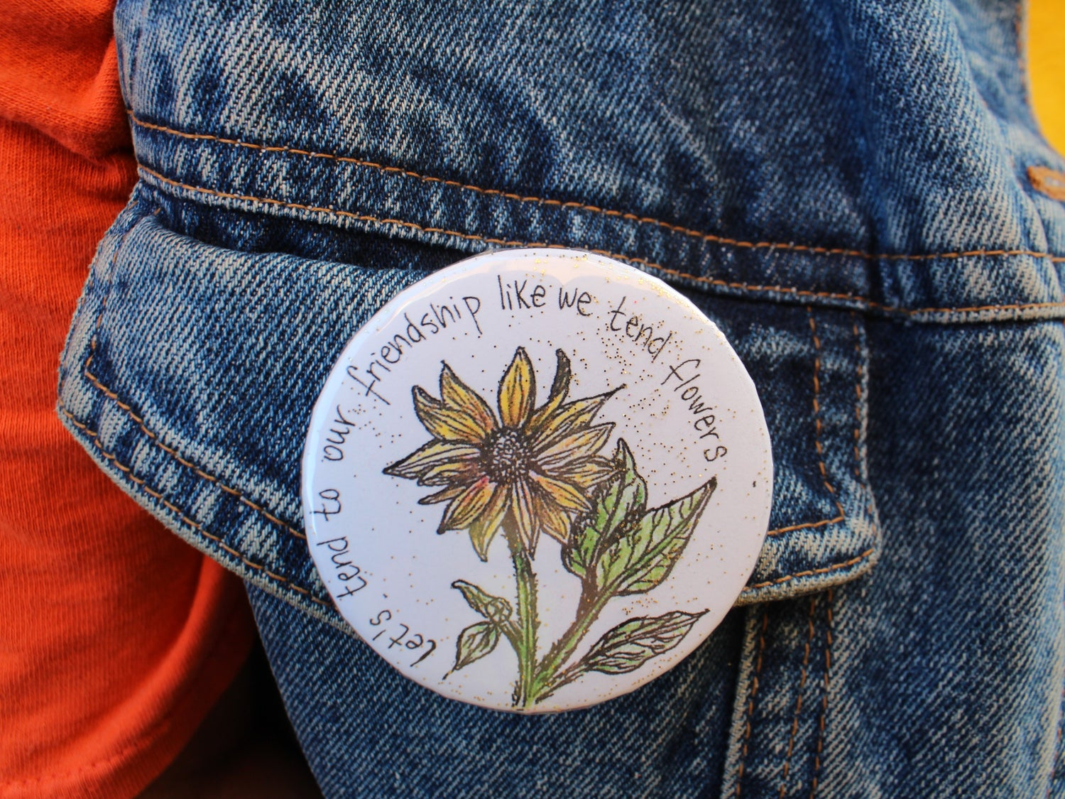 Image of Sunflowr Friendship Pin
