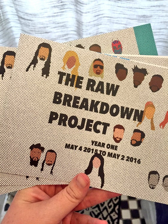 Image of RAW Breakdown Project Annual Report YEAR ONE **PRINTED COPY**