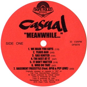 "Image of CASUAL ""MEANWHILE..."" BLACK VINYL VERSION $20"