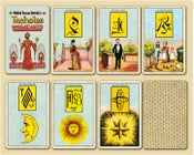 Image of Malkiel's 'Tacheles' Deck with Mystical Symbols