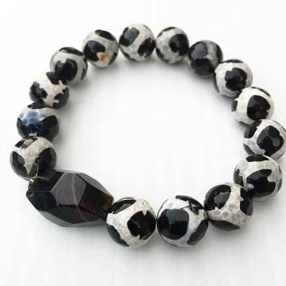 Image of Tribal Agate Faceted Bracelet