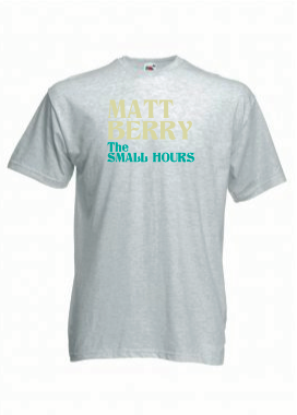 Image of Matt Berry 'The Small Hours' T-Shirt Grey