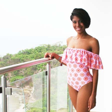 "Image of One Piece Swimsuit Ruffle ""Russian Avant Garde Collection"""
