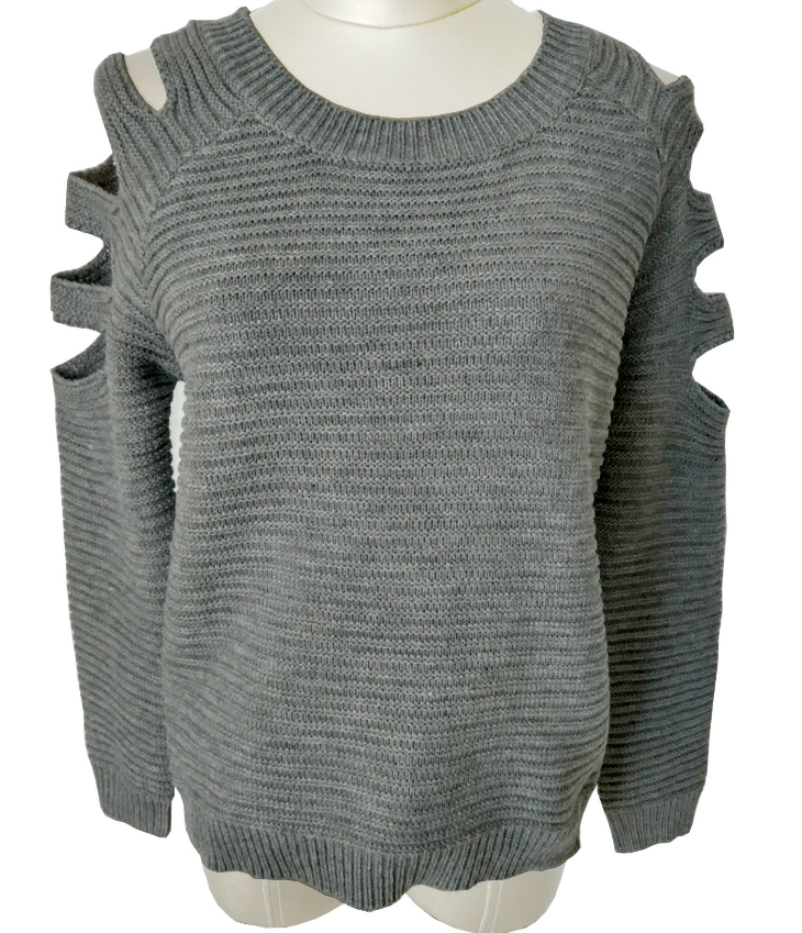 Image of Sexy hollow-out long-sleeved knitting a sweater