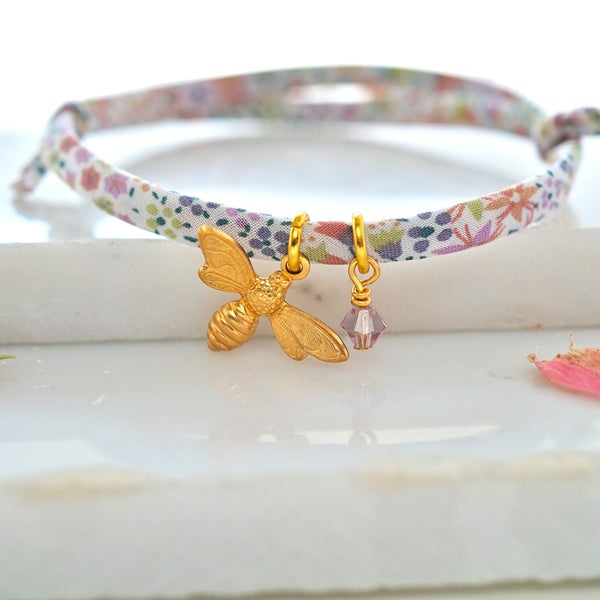 Image of Bee and swarovski bracelet