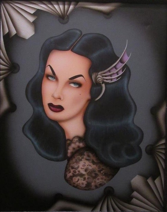 Image of Dark Deco Vampira Print