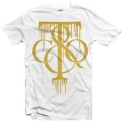 "Image of LIKE MIKE ""TIFF DRIP"" White/Gold"