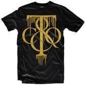 "Image of LIKE MIKE ""TIFF DRIP"" Black/Gold"