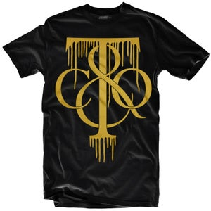 """Image of LIKE MIKE """"TIFF DRIP"""" Black/Gold"""