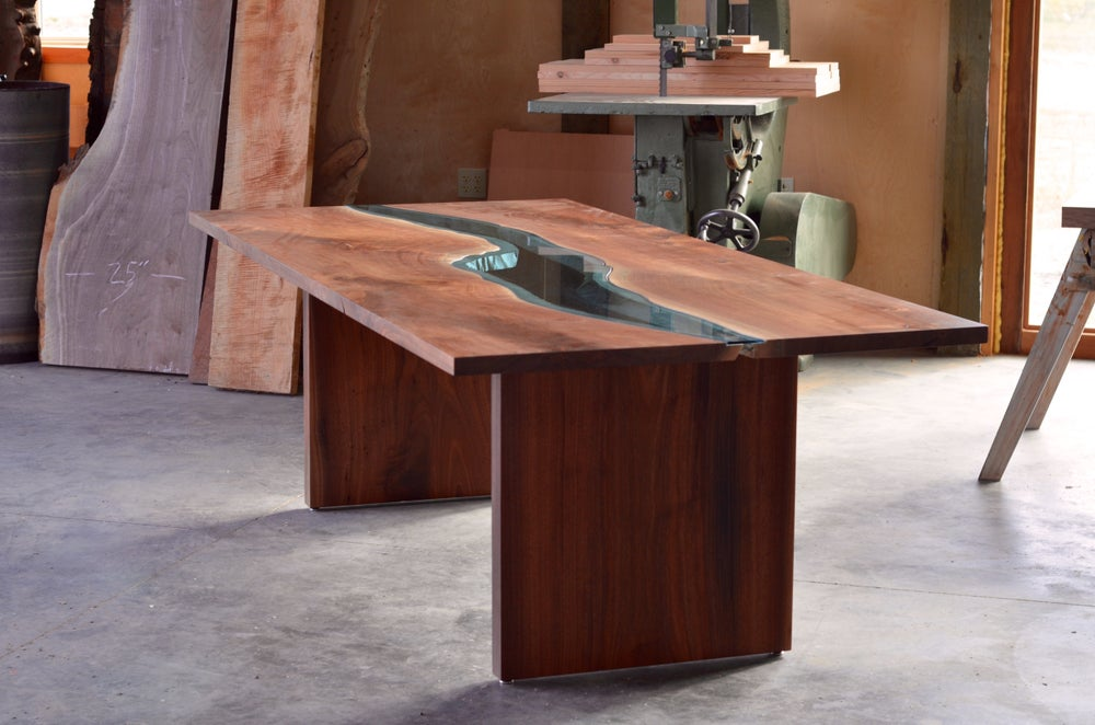 Image of black walnut river dining table