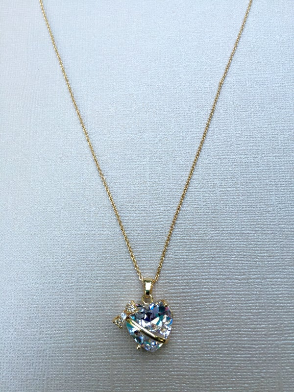 Image of Heart Bow Necklace
