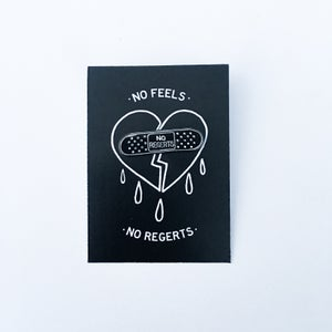 Image of NO REGERTS pin by @skl0_