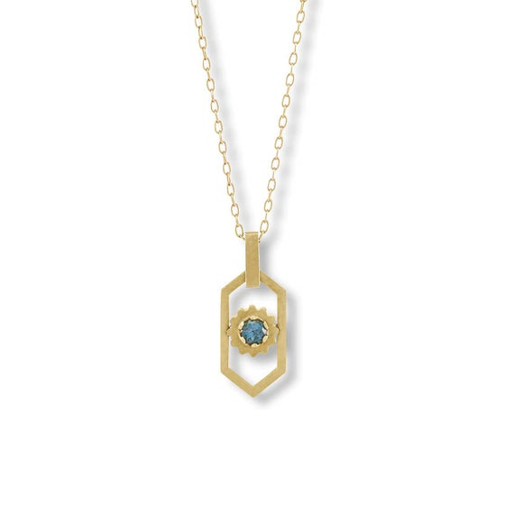 Image of Le Paon Bleu Necklace