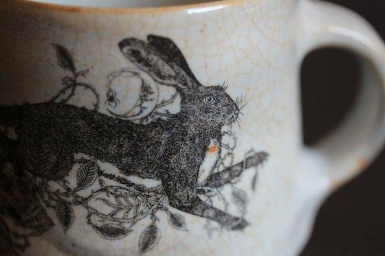 Image of Brambles Rowan and The Hare ceramic mug.