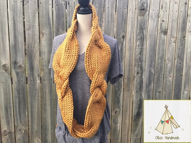 Image of Braided Infinity Scarf/Cowl