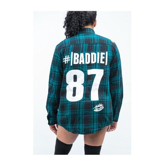 "Image of ""Im #TeamBaddieco"" Boyfriend Flannel"