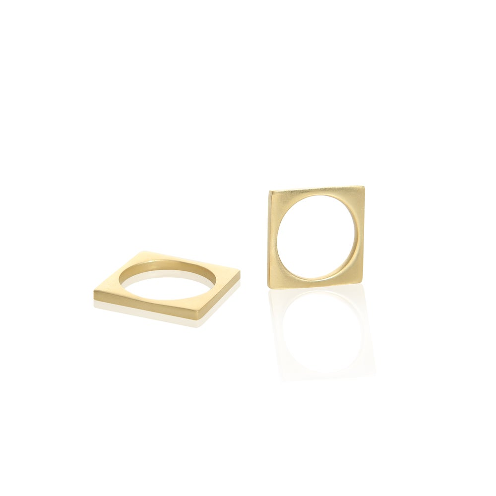 Image of Square Edge ring Gold Edition
