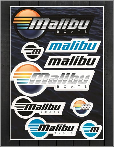 Image of Malibu Sticker Sheet (A4)