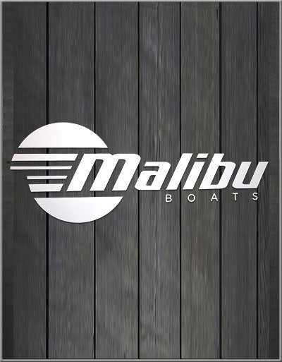 Image of White Malibu Vinyl Decal