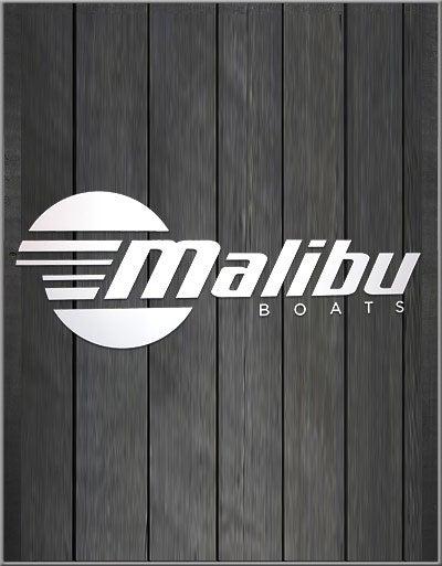 Image of White Malibu Vinyl Decal