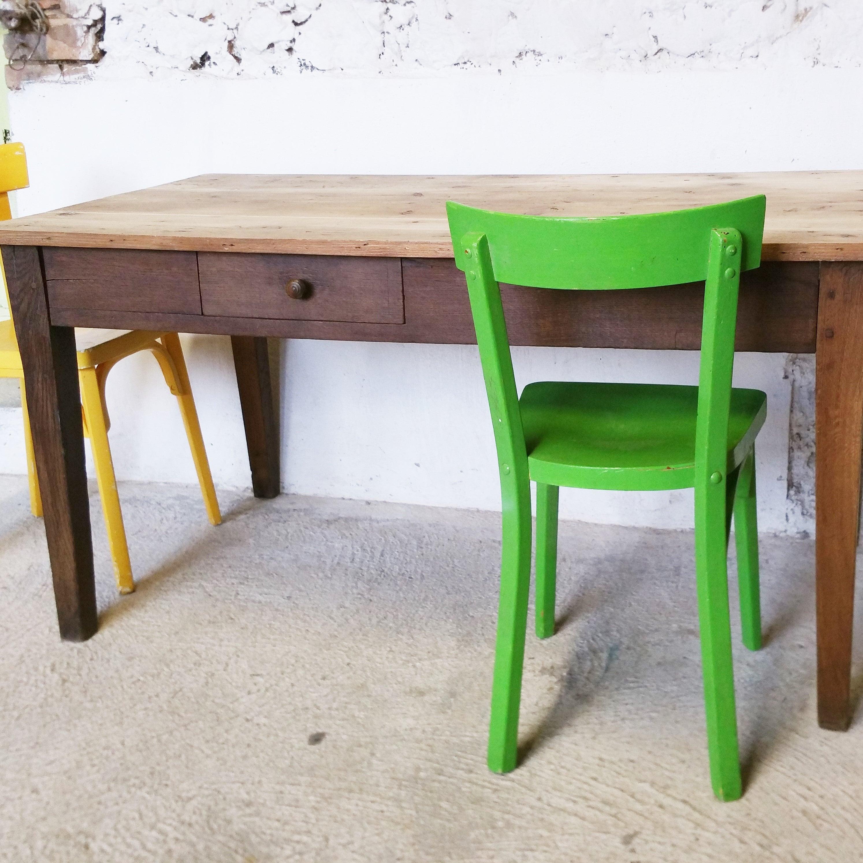 Table de ferme en bois naturel fibresendeco vannerie artisanale& mobilier vintage # Table En Bois Naturel