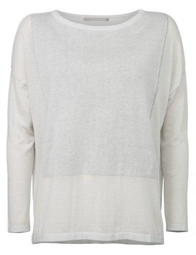 Image of YAYA Square Sweater White