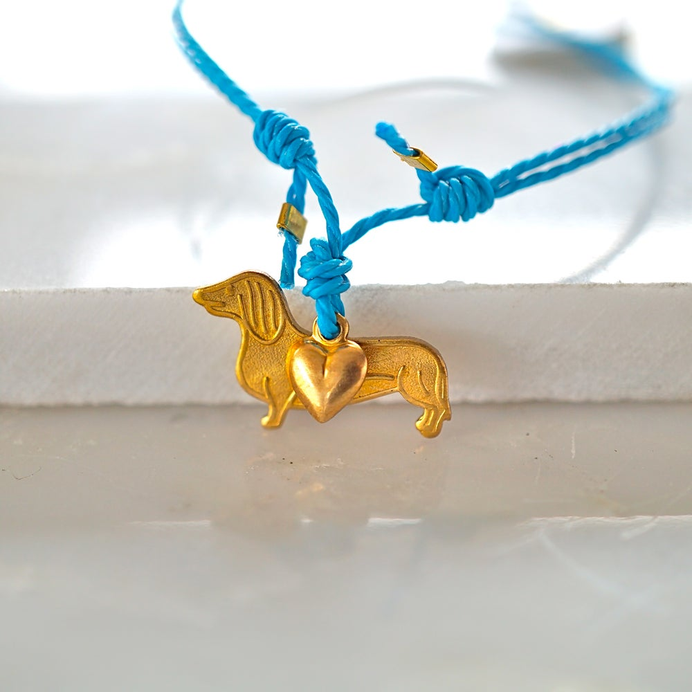 Image of Sausage dog and heart bracelet