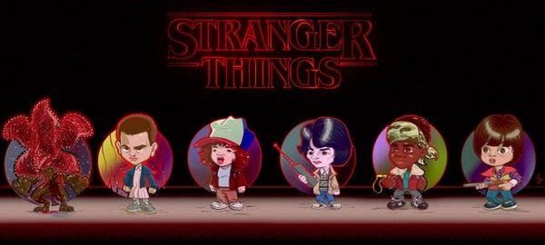 Image of Chibi Stranger Things Print