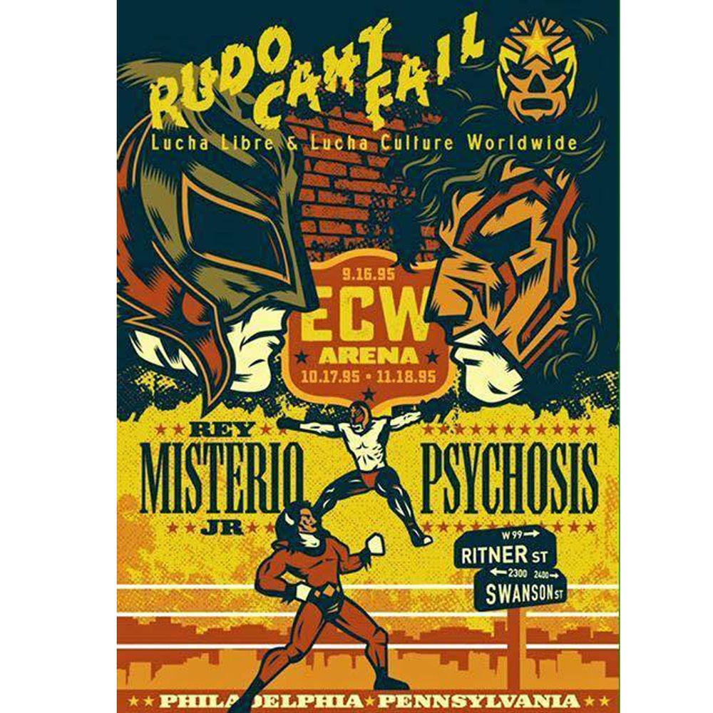 Image of Rey Mysterio vs. Psychosis 20th Anniversary of their ECW matches Poster by Rockets Are Red