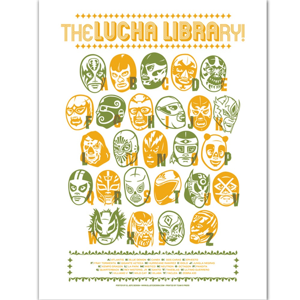 Image of Lucha Library poster by Rockets Are Red