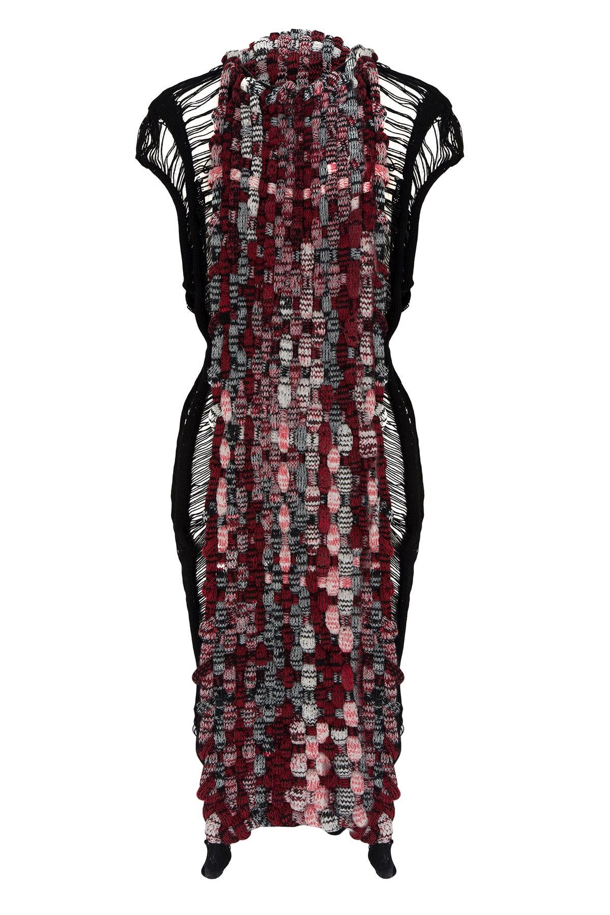 Image of Tubular Woven Knit Dress