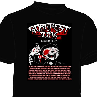 Image of COLLECTORS LTD 2016 GOREFEST SHIRT