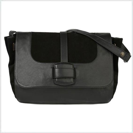Image of <br> ABSOLU cuir noir et veau velours