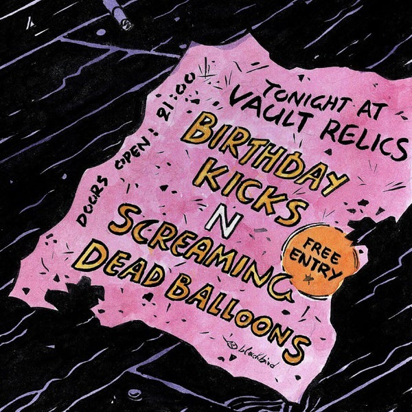 """Image of Birthday Kicks/Screaming Dead Balloons - Tonight at Vault Relics split 7"""""""