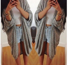 Image of Cute bat sleeve cardigan
