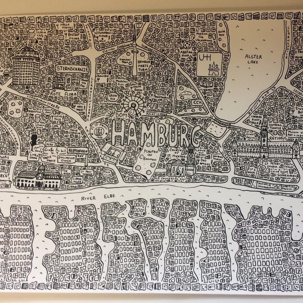 Image of Hamburg Doodle Map