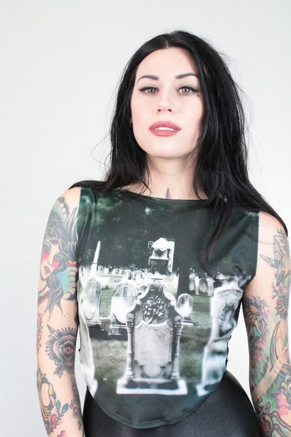 Image of Tombstone crop top