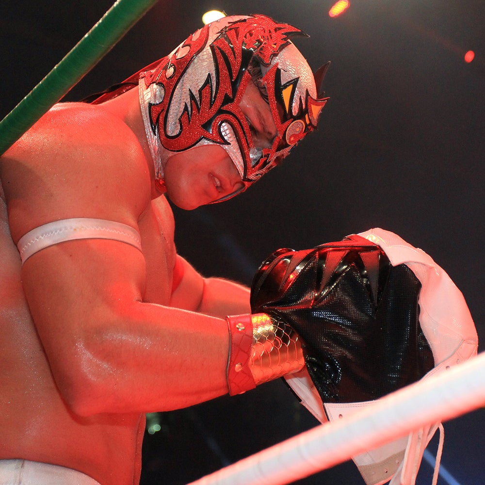 Image of Dragon Lee - THE MASK Worn In CMLL 83rd Ann. Mask vs. Mask Match