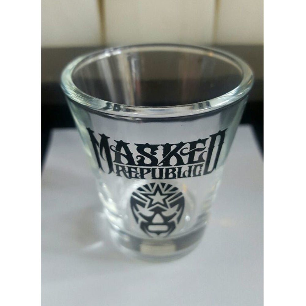 Image of Masked Republic Logo Shotglass