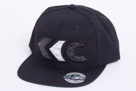 Image of Black/Silver Croc Appliqué Snap Back 1