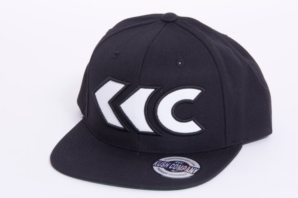 Image of White Leather Appliqué Snap Back
