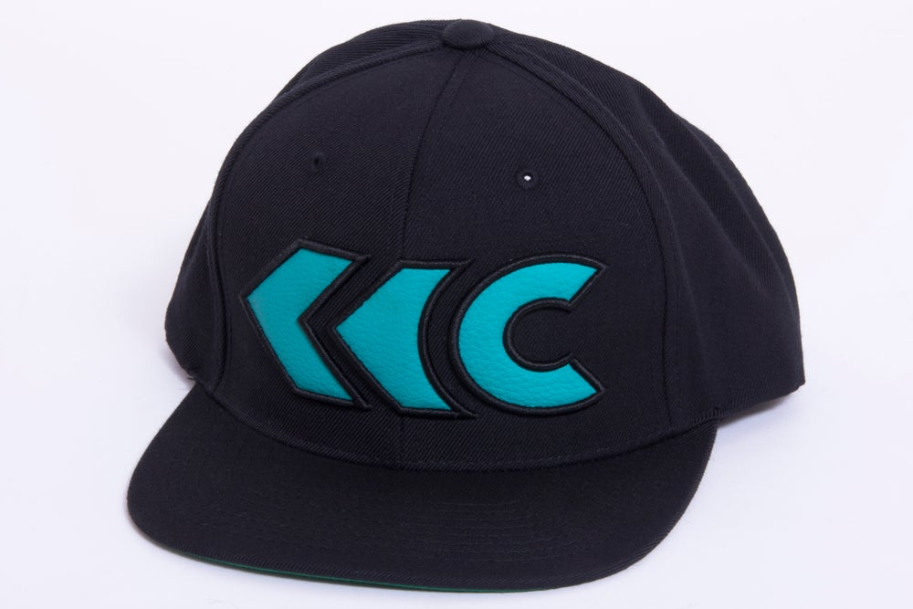 Image of Turquoise Leather Applique Snap Back