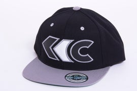 Image of Black/Gray Applique Snap Back 2