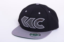 Image of Black/Gray Applique Snap Back 3