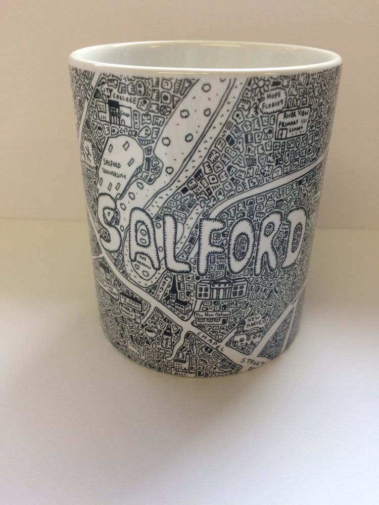 Image of Salford Doodle Map Mug