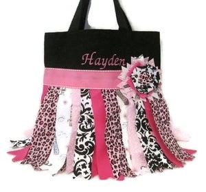 Image of Pink Rag Skirt Tote bag