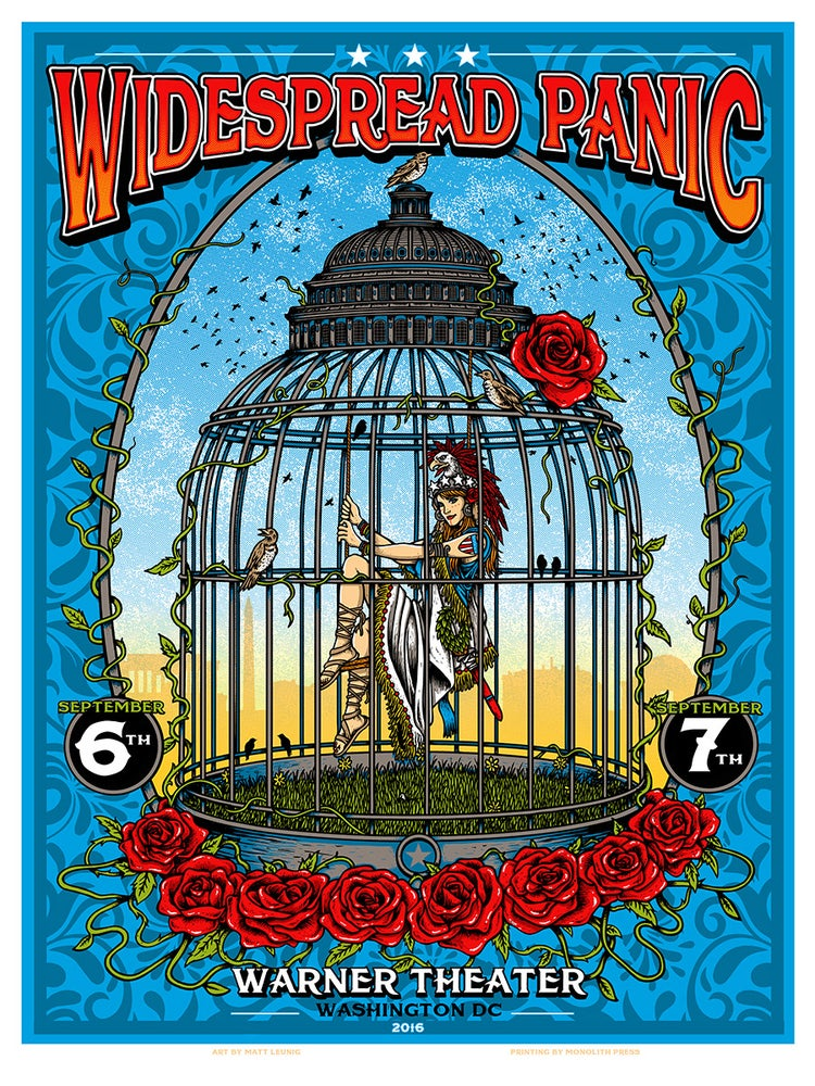 Image of WIDESPREAD PANIC @ Washington DC - 2016 ORIGINALS & FOIL VARIANTS